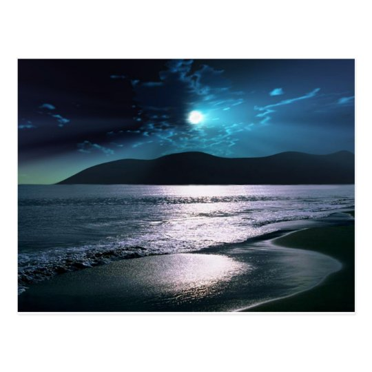Tranquillity Beach Moonrise Postcard
