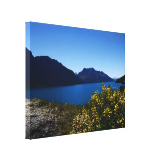 Tranquillity Blues South Island, New Zealand Canva Gallery Wrap Canvas