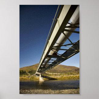 Trans Alaska oil pipeline crossing South fork Koyu Poster