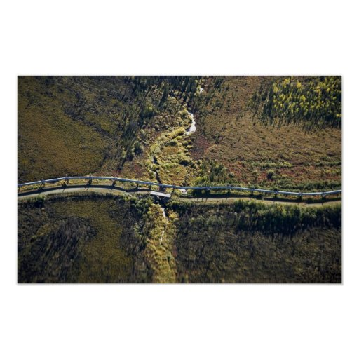 Trans Alaska Pipeline crossing tributary of Koyuku Poster