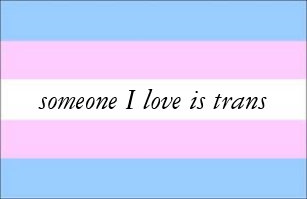 Image result for someone i love is trans