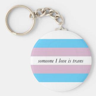 Trans ally keychain
