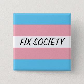 Trans Button: Fix Society 15 Cm Square Badge