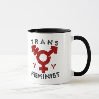 TRANS FEMINIST - For Liberation Of All Women, Red Mug