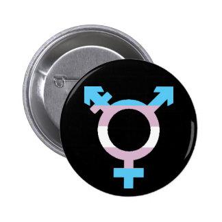 Trans Flag Symbol 6 Cm Round Badge
