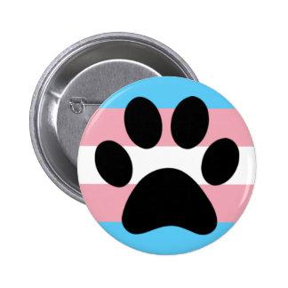 Trans furry pride 6 cm round badge
