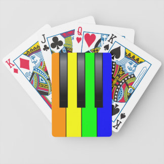 Trans Gay Piano Keys Bicycle Playing Cards