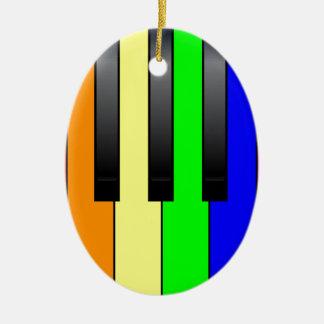 Trans Gay Piano Keys Ceramic Oval Decoration