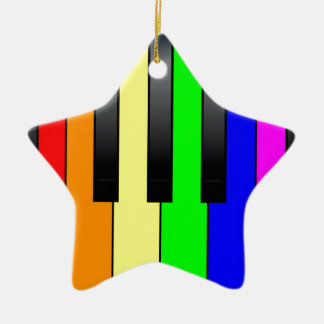 Trans Gay Piano Keys Ceramic Star Decoration