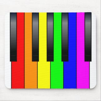 Trans Gay Piano Keys Mouse Pad