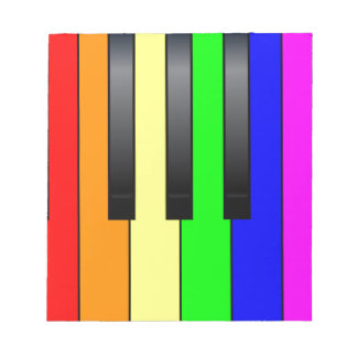 Trans Gay Piano Keys Notepad