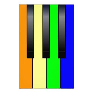 Trans Gay Piano Keys Stationery Paper