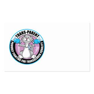 Trans-Parent Cat Fighter Business Card Template