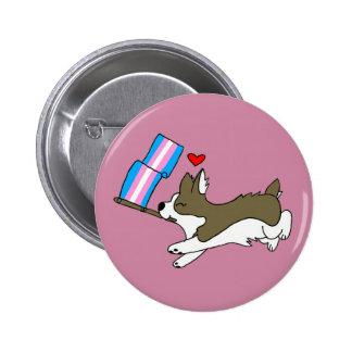 Trans Pride Corgi Pin