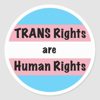 TRANS Rights are Human Rights Classic Round Sticker