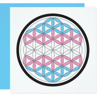 trans sacred geometry 13 cm x 13 cm square invitation card