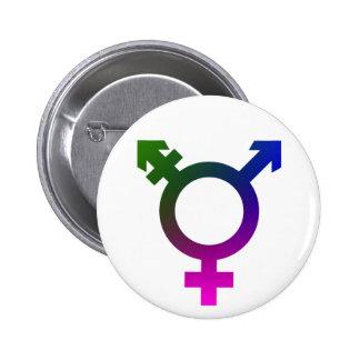 Trans* Symbol pink/blue/green 6 Cm Round Badge