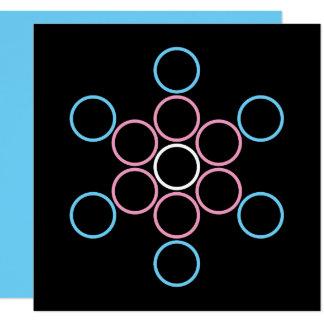 tranSacred circles 13 Cm X 13 Cm Square Invitation Card