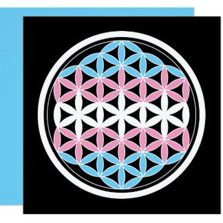 tranSacred geometry 13 Cm X 13 Cm Square Invitation Card