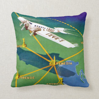 Transadriatica Navigazione Aerea Throw Pillow