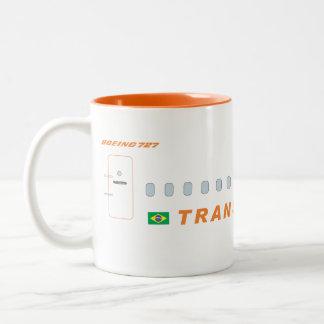 transbrasil airlines Two-Tone coffee mug