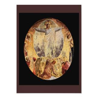 Transcendent  Christ Risen from the Tomb 14 Cm X 19 Cm Invitation Card