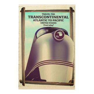 Transcontinental Railroad USA. Wood Wall Art