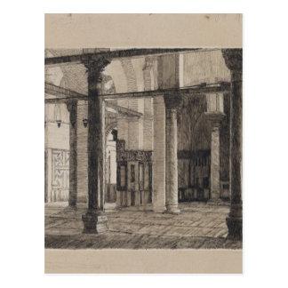 Transept of the Mosque of El Aksa by James Tissot Postcard