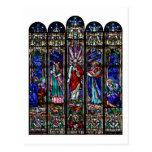 Transfiguration of Jesus Christ Stained Glass Art Postcard