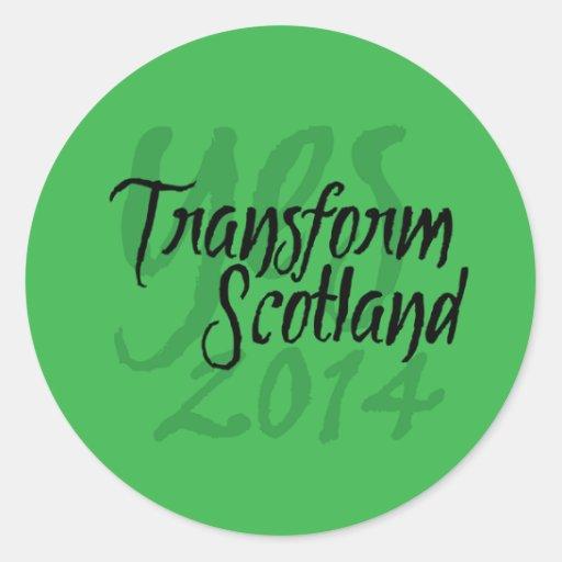 Transform Scotland sticker