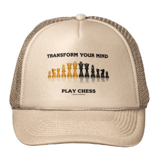 Transform Your Mind Play Chess Advice Chess Set Cap