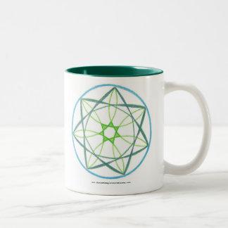 Transformation Mandala #2 Two-Tone Coffee Mug