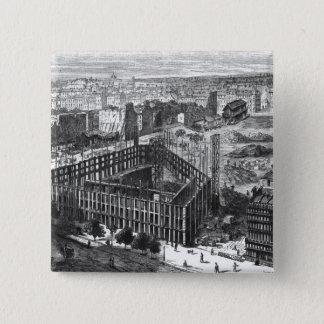 Transformation of Paris: Building in 1861 15 Cm Square Badge