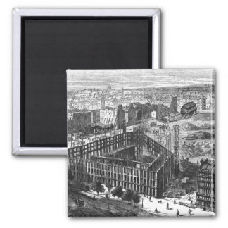 Transformation of Paris: Building in 1861 Magnet