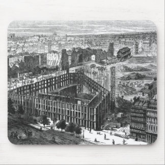 Transformation of Paris: Building in 1861 Mouse Mat