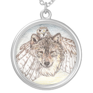 Transformation Wolf Silver Plated Necklace