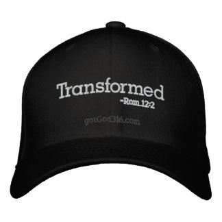 Transformed gotGod316.com Romans 12:2 Embroidered Hats