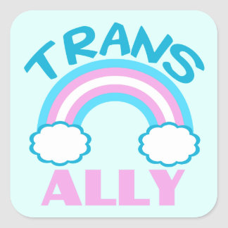 Transgender Ally Square Sticker