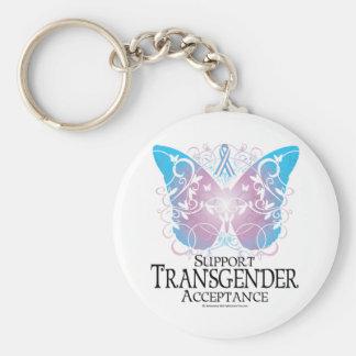 Transgender Butterfly Key Ring