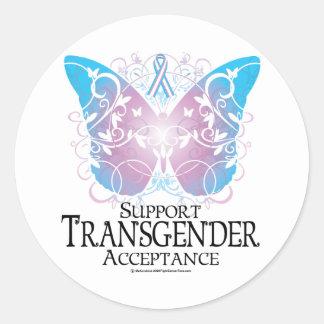Transgender Butterfly Round Sticker