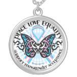 Transgender Butterfly Tribal Personalized Necklace