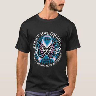Transgender Butterfly Tribal T-Shirt