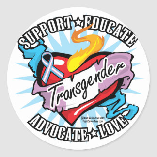 Transgender Classic Heart Classic Round Sticker