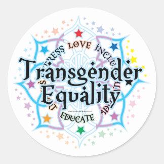 Transgender Equality Lotus Classic Round Sticker