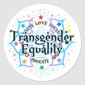 Transgender Equality Lotus Round Sticker