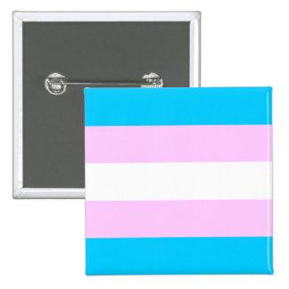 Transgender flag 15 cm square badge