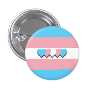 Transgender flag button pins