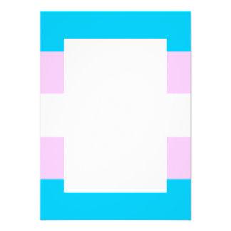 Transgender flag custom invitations