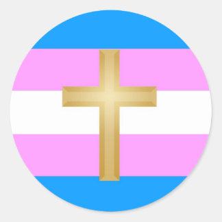 Transgender for Christ Round Sticker
