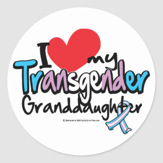 Transgender Granddaughter Round Stickers